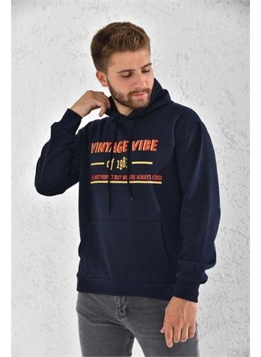 Rodi Jeans Rodi Erkek Vintage Vibe Baskılı Kapişonlu Şardonlu Sweat Ds21Ke051737 Lacivert